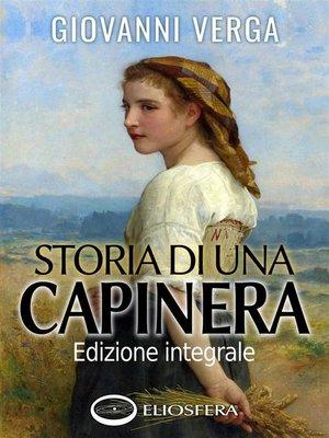cover image of Storia di una capinera