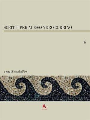 cover image of Scritti per Alessandro Corbino--Volume 4
