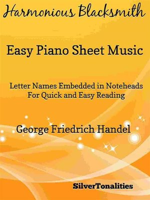 cover image of Harmonious Blacksmith Easy Piano Sheet Music