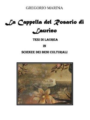 cover image of Gli interventi decorativi della Cappella del Rosario di Laurino
