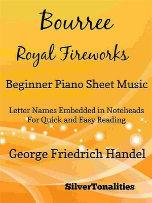 cover image of Bourree the Royal Fireworks Beginner Piano Sheet Music