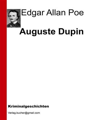 cover image of Auguste Dupin