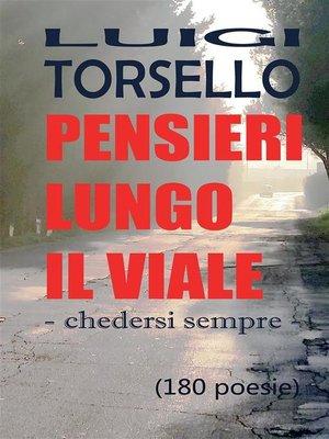 cover image of Pensieri lungo il viale
