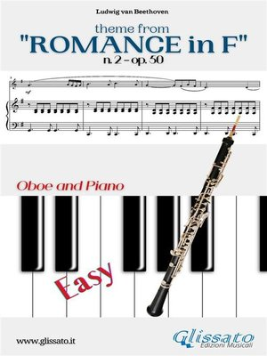 """cover image of Theme from """"Romance in F"""" Easy Oboe & Piano"""
