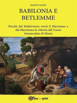 cover image of Babilonia e Betlemme