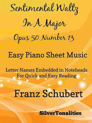 cover image of Sentimental Waltz in a Major Opus 50 Number 13 Easy Piano Sheet Music