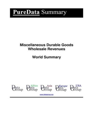 cover image of Miscellaneous Durable Goods Wholesale Revenues World Summary