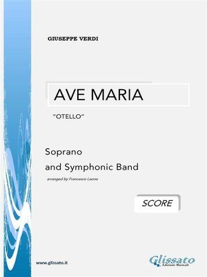 """cover image of AVE MARIA """"Otello""""--G.Verdi (SCORE)"""