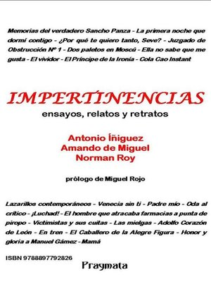 cover image of Impertinencias