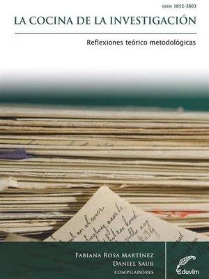 cover image of La cocina de la investigación