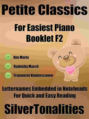 cover image of Petite Classics for Easiest Piano Booklet F2