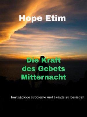 cover image of Die Kraft des Gebets Mitternacht