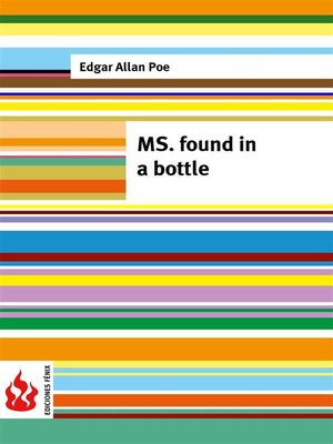 cover image of MS. found in a bottle (low cost). Limited edition