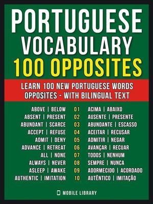 cover image of Portuguese Vocabulary--100 Opposites