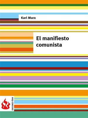 cover image of El manifiesto comunista (low cost)