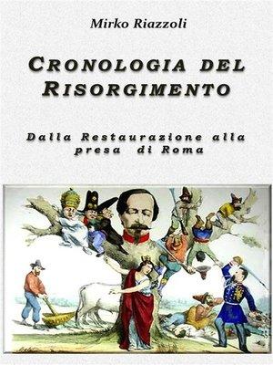 cover image of Cronologia del Risorgimento 1815-1870