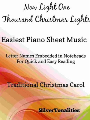 cover image of Now Light One Thousand Christmas Lights Easy Piano Sheet Music