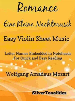 cover image of Romance Eine Kleine Nachtmusik Easy Violin Sheet Music