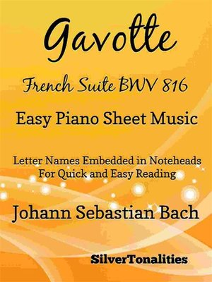cover image of Gavotte French Suite BWV 816 Easy Piano Sheet Music