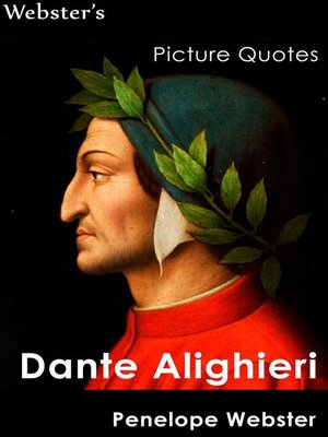 cover image of Webster's Dante Alighieri Picture Quotes