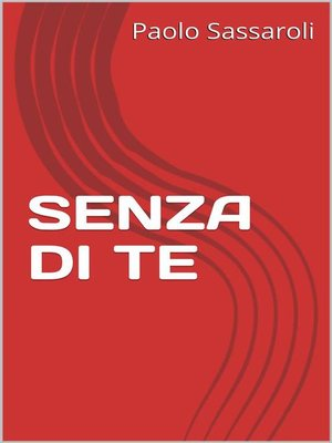 cover image of Senza di te
