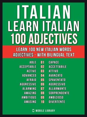 cover image of Italian--Learn Italian--100 Adjectives