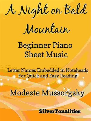 cover image of A Night on Bald Mountain Beginner Piano Sheet Music