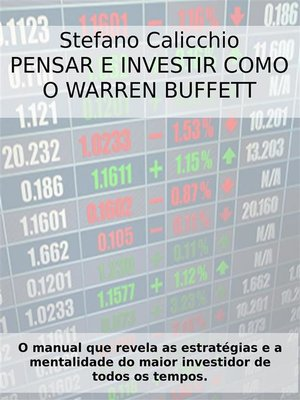 cover image of Pensar e investir como o Warren Buffett