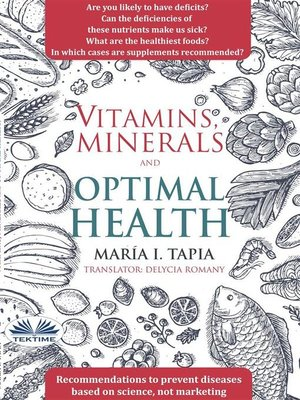 cover image of Vitamins, Minerals and Optimal Health