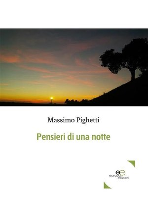 cover image of Pensieri di una notte