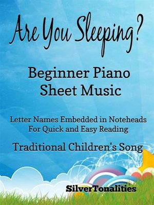 cover image of Are you sleeping beginner pianoAre You Sleeping Beginner Piano Sheet Music