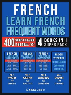 cover image of French--Learn French --Frequent Words (4 Books in 1 Super Pack)