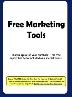 cover image of Free Marketing Tools