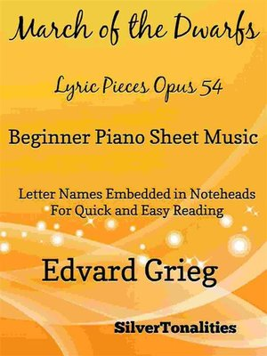 cover image of March of the Dwarfs Lyric Pieces Opus 54 Beginner Piano