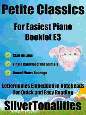 cover image of Petite Classics for Easiest Piano Booklet E3