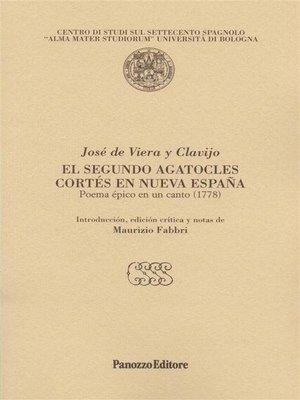 cover image of El segundo Agatocles. Cortes en nueva Espana