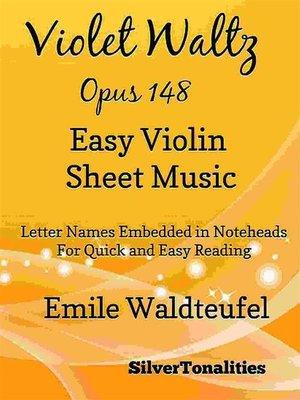 cover image of Violet Waltz Opus 148 Easy Violin Sheet Music