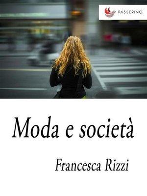 cover image of Moda e società
