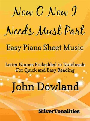 cover image of Now O Now I Needs Must Part Easy Piano Sheet Music