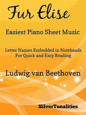 cover image of Fur Elise Easiest Piano Sheet Music