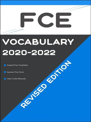 cover image of FCE Test Vocabulary 2020