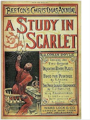 cover image of A Study in Scarlet--Sherlock Holmes #1
