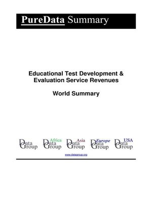 cover image of Educational Test Development & Evaluation Service Revenues World Summary