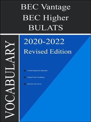 cover image of BEC Higher Vocabulary 2020 Edition