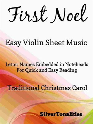 cover image of First Noel Easy Violin Sheet Music