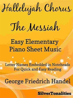 cover image of Hallelujah Chorus the Messiah Easy Elementary Piano Sheet Music