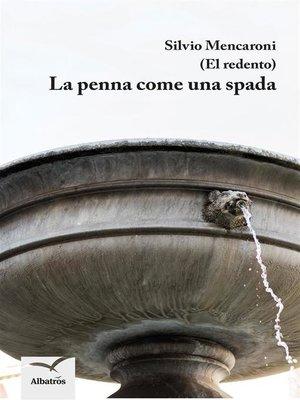 cover image of La penna come una spada