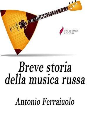 cover image of Breve storia della musica russa