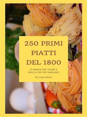 cover image of Primi piatti del 1800