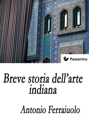 cover image of Breve storia dell'arte indiana